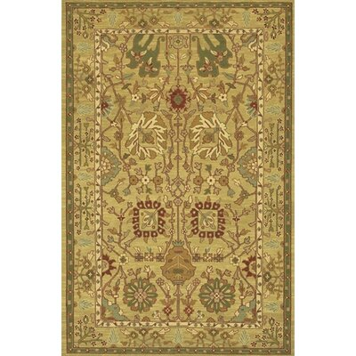 Abell Handmade Brown/Tan Area Rug Rug Size: 79 x 106
