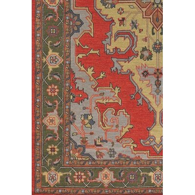 Abell Brown/Red Area Rug Rug Size: Round 7'9