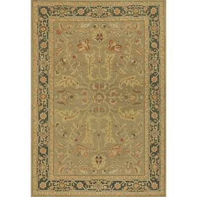 Abell Traditional Brown/Tan Area Rug Rug Size: Round 79
