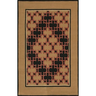 Don Brown/Tan Area Rug Rug Size: 79 x 106