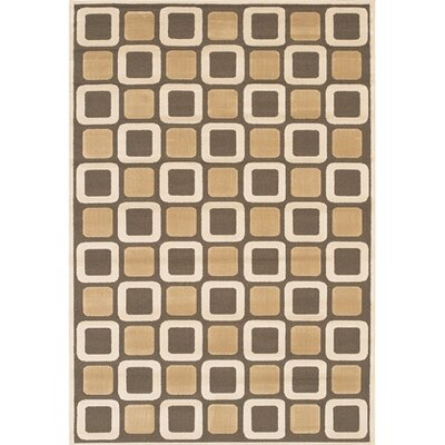 Veliz Brown/Tan Geometric Area Rug Rug Size: Rectangle 111 x 37