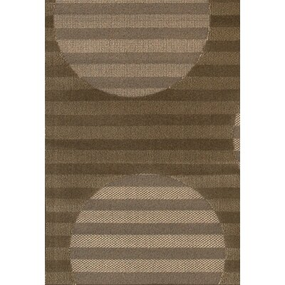 Veliz Brown/Tan Striped Area Rug Rug Size: Rectangle 111 x 37