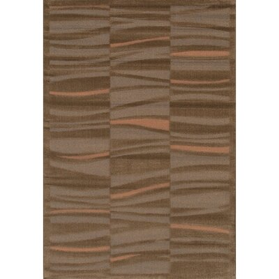 Rita Brown/Tan Area Rug Rug Size: 1'11
