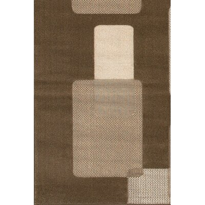 Veliz Brown/Tan Area Rug Rug Size: Rectangle 111 x 37