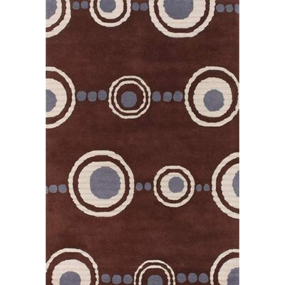 Burnestown Brown Area Rug Rug Size: 79 x 106
