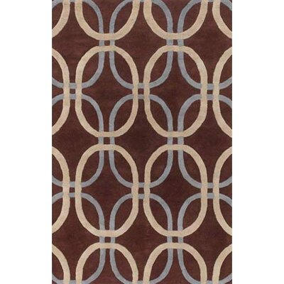 Rogan Brown Area Rug Rug Size: 79 x 106
