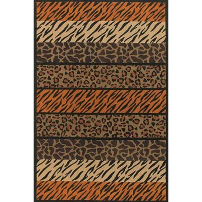 Safari Brown Area Rug Rug Size: 79 x 106