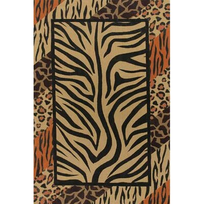 Safari Brown/Black Area Rug Rug Size: 9 x 13