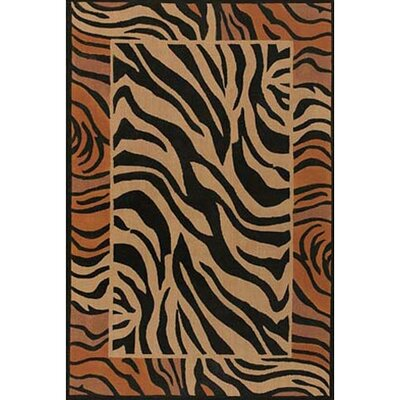 Safari Brown/Black Area Rug Rug Size: 79 x 106