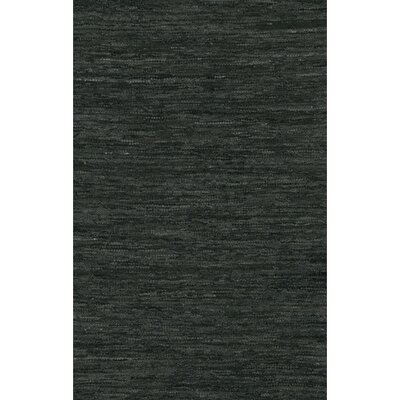 Bardette Hand Woven Black Area Rug Rug Size: 36 x 56