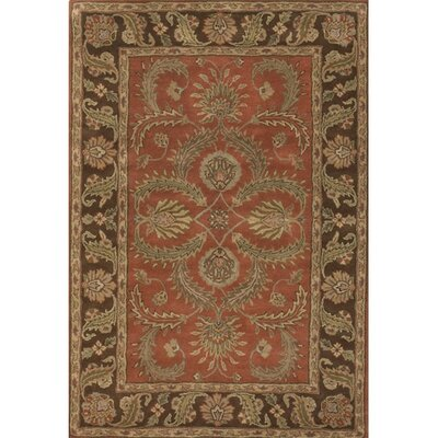 Scotia Brown/Orange Area Rug Rug Size: 2 x 3