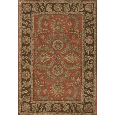 Scotia Brown/Red Area Rug Rug Size: 2 x 3