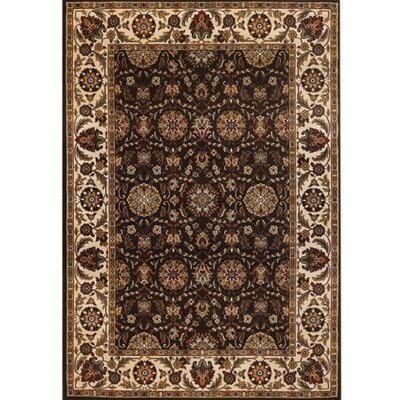 Myricks Rustic Brown/Tan Area Rug Rug Size: 53 x 74
