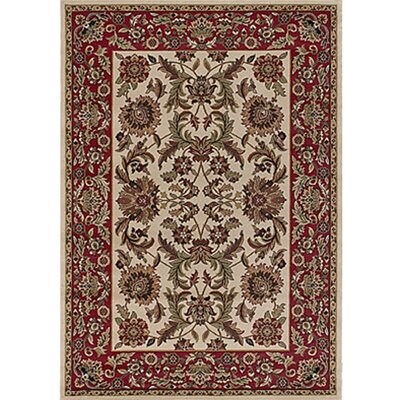 Silver Brown/Red Area Rug Rug Size: 53 x 74