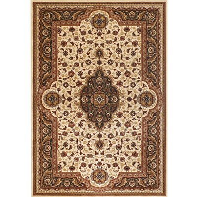 Myricks Brown/Tan Oriental Area Rug Rug Size: 53 x 74