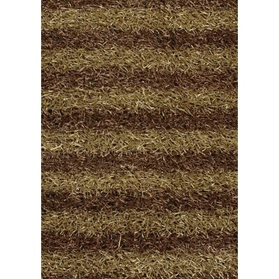 Strata Brown/Tan Area Rug Rug Size: 5 x 76
