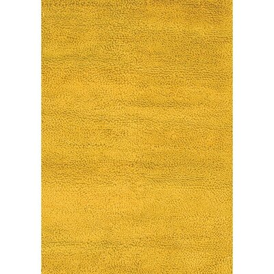 Strata Yellow Area Rug Rug Size: Runner 26 x 76