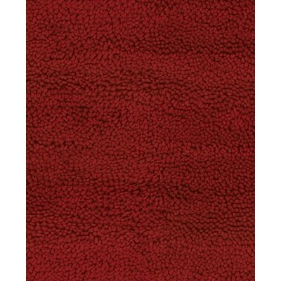 Strata Dark Red Area Rug Rug Size: Rectangle 79 x 106