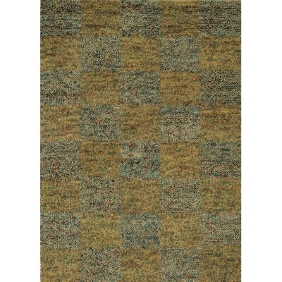 Strata Blue/Gold Area Rug Rug Size: Rectangle 5 x 76