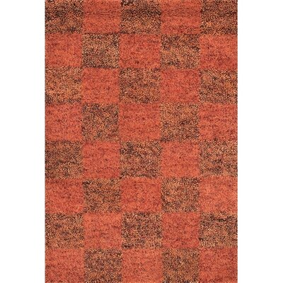 Strata Brown/Red Area Rug Rug Size: Round 79