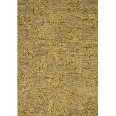 Strata Gold Area Rug Rug Size: Rectangle 79 x 106