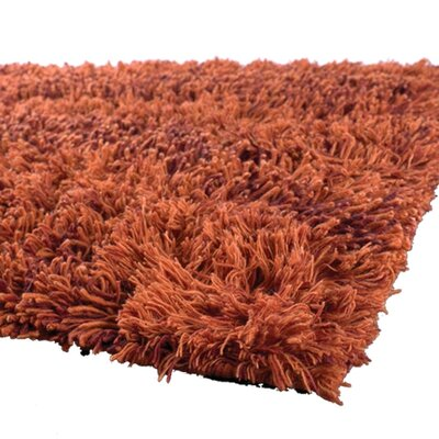 Strata Orange Area Rug Rug Size: 2 x 3