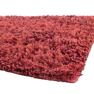 Strata Red Area Rug Rug Size: 79 x 106