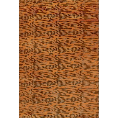 Strata Orange Area Rug Rug Size: Rectangle 5 x 76