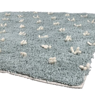 Strata Blue Area Rug Rug Size: Runner 26 x 76