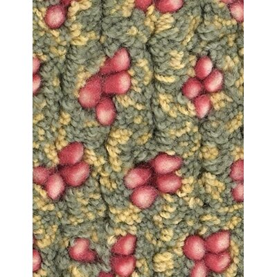 Strata Green/Red Area Rug Rug Size: Round 79