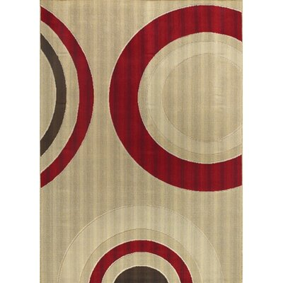 Torino Tan Indoor/Outdoor Area Rug Rug Size: 36 x 56