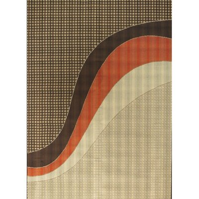 Bunce Brown/Tan Indoor/Outdoor Area Rug Rug Size: Rectangle 26 x 44