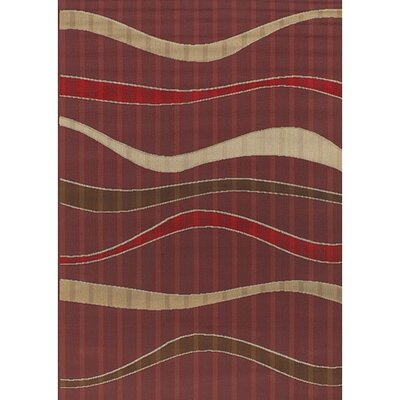 Torino Red Indoor/Outdoor Area Rug Rug Size: 52 x 75