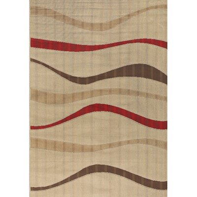 Torino Tan Indoor/Outdoor Area Rug Rug Size: 52 x 75