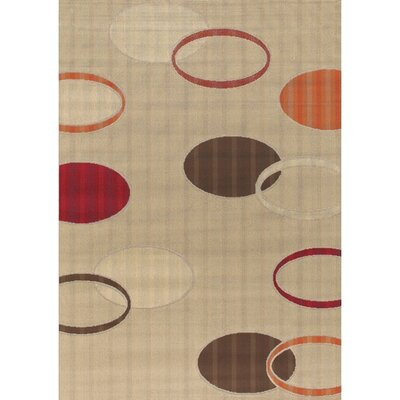 Torino Tan Indoor/Outdoor Area Rug Rug Size: 26 x 44