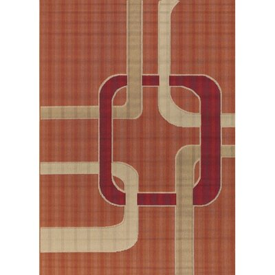 Bunce Orange Indoor/Outdoor Area Rug Rug Size: Rectangle 26 x 44