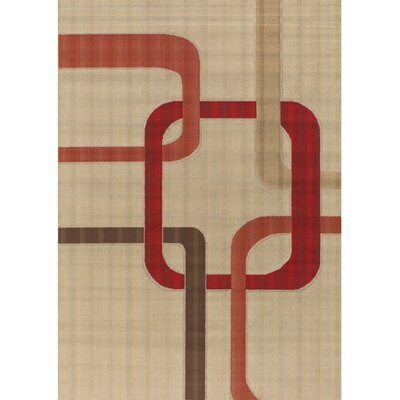 Bunce Tan Area Rug Rug Size: 36 x 56