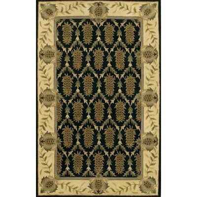 Verona Black/Brown Area Rug Rug Size: 79 x 106