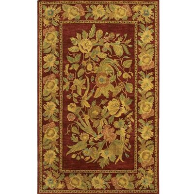 Verona Red/Tan Area Rug Rug Size: 79 x 106