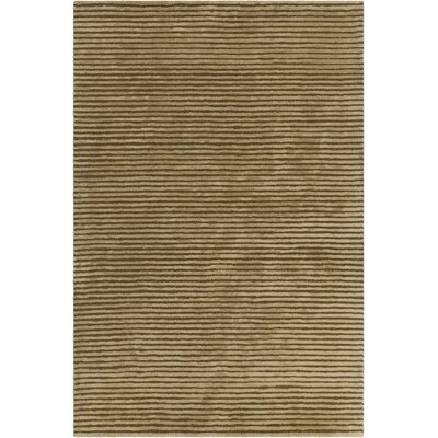 Nathen Textured Solid Green Area Rug Rug Size: 36 x 56