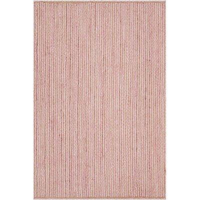 Alyssa Textured Contemporary Pink Area Rug Rug Size: 79 x 106