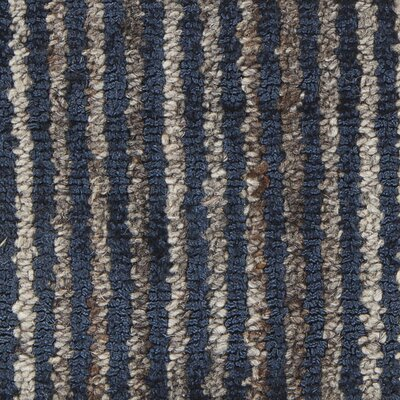 Citizen Textured Contemporary Flatweave Denim Area Rug Rug Size: 79 x 106