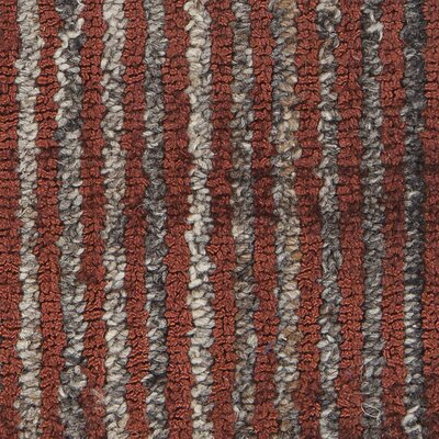 Citizen Textured Contemporary Flatweave Rust Area Rug Rug Size: 5 x 76
