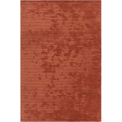 Nathen Textured Orange Area Rug Rug Size: 36 x 56