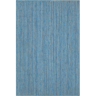 Yother Textured Contemporary Blue Area Rug Rug Size: 79 x 106