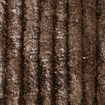 Angelo Textured Solid Brown Area Rug Rug Size: 79 x 106