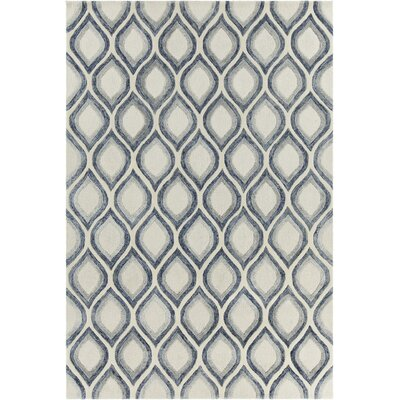 Delong Patterned Contemporary White Area Rug Rug Size: 79 x 106