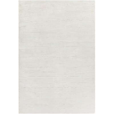 Nathen Hand Woven White Area Rug Rug Size: 5 x 76
