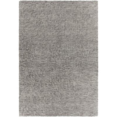 Alldredge Textured Contemporary Shag Gray Area Rug Rug Size: 5 x 76