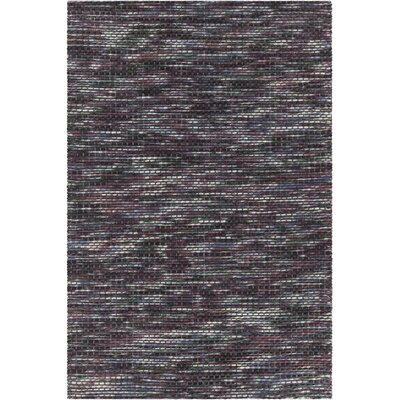 Oana Textured Contemporary Wool Purple Area Rug Rug Size: 79 x 106
